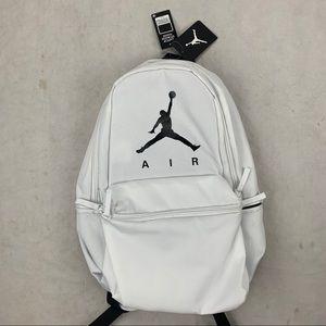 NIKE Air Jordan Jumpman White Backpack Laptop Bag